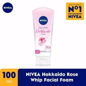 Harga nivea hokkaido rose whip facial foam 100 | HARGALOKA.COM