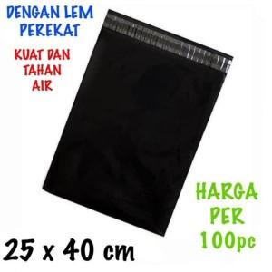 Harga kantong plastik online shop polymailer perekat 100pcs 25x40 | HARGALOKA.COM