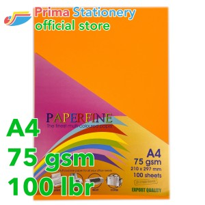 Harga kertas hvs a4 paperfine isi 100 lbr warna cyber | HARGALOKA.COM