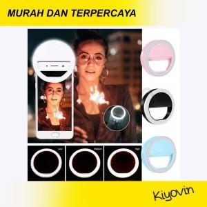 Harga ring fill light lampu selfie 3 mode led rechargeable lamp kamera hp   HARGALOKA.COM