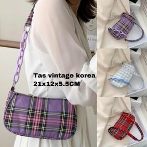 Harga tas vintage korea wanita murah tas bahu | HARGALOKA.COM