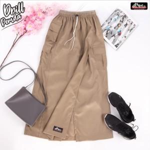 Harga rok celana bawahan kulot rickyrieez drill coklat pemda best seller   | HARGALOKA.COM