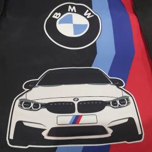 Harga tas lipat bmw hitam waterproof custom printing full color | HARGALOKA.COM