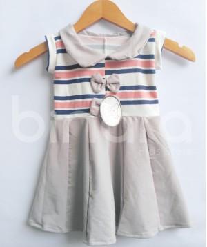 Harga dress atasan anak perempuan kekinian model dress waffer   6 12 | HARGALOKA.COM