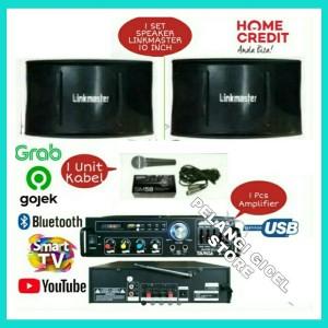 Harga packet speaker link master 10 inch smarttv connect amplifier | HARGALOKA.COM