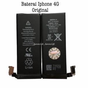 Harga baterai original 100 iphone 4 4g 4s 5 5g 5s 5c 5se battery batre   iphone 4 | HARGALOKA.COM