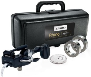 Harga dymo rhino labeller 1011 metal tape embossing system kit m1011 | HARGALOKA.COM