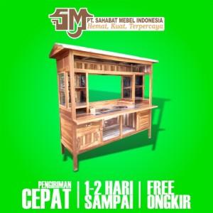 Harga rombong grobak gerobak mieso miso miayam bakso e2 kayu mahoni termurah   paket | HARGALOKA.COM