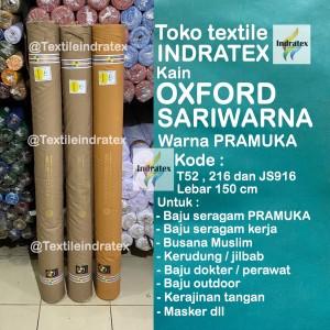 Harga kain oxford sari warna sariwarna baju seragam pramuka lb 150 swaichi   pramuka | HARGALOKA.COM
