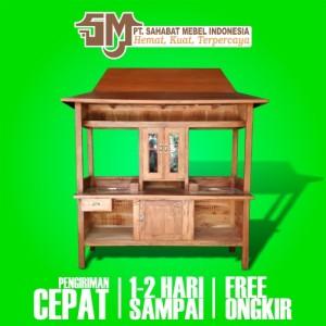 Harga gerobak grobak rombong mieso miso mieayam bakso e1 joglo kayu mahoni   paket | HARGALOKA.COM
