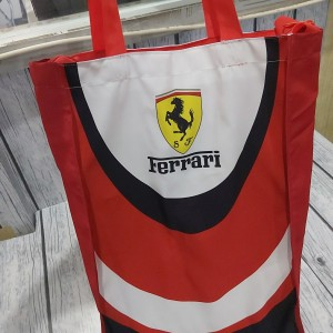 Harga tas lipat ferrari merah waterproof custom printing full color | HARGALOKA.COM