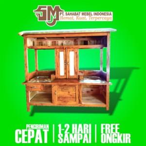 Harga rombong grobak gerobak mieso miso miayam bakso e1 kayu mahoni termurah   paket | HARGALOKA.COM