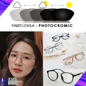 Harga frame kacamata 209   kacamata minus antiradiasi photocormic | HARGALOKA.COM
