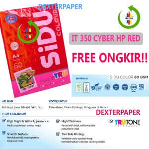 Harga kertas a4 80gr warna merah stabilo sidu colour it 350 cyber hp | HARGALOKA.COM