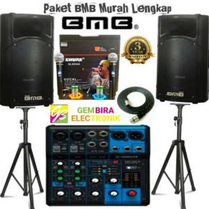 Harga paket karaoke speaker bmb 15 inch bisa indoor outdoor murah | HARGALOKA.COM