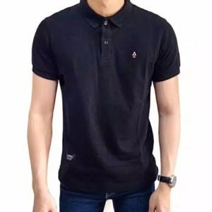 Harga aviuvay ready baju kaos kerah pria polo shirt fashion casual terbaru   hitam | HARGALOKA.COM