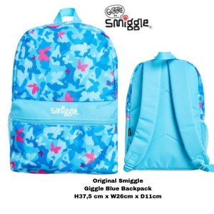 Harga smiggle original by giggle blue backpack tas ransel original   HARGALOKA.COM
