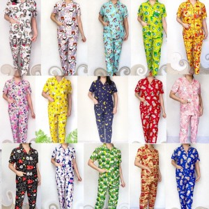 Harga 77 piyama wanita baju tidur cewek setelan baju tidur cewek dewasa bear   koran   HARGALOKA.COM
