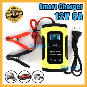 Harga Charger Cas Casan Aki Accu Mobil Motor Truk Led Display Smart 12v 20a Katalog.or.id