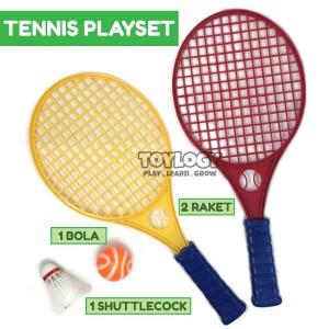 Harga mainan anak olahraga tennis sport set raket bola tenis | HARGALOKA.COM