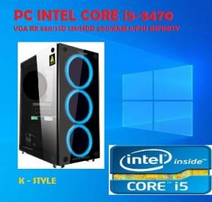 Harga pc gaming intel core i5 3470 vga rx 550 ssd 128 hdd 500 ram 8 | HARGALOKA.COM