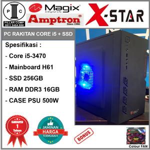 Harga komputer rakitan i5 3470 ssd 256gb h61 ddr3 16gb psu 500w cs7 | HARGALOKA.COM