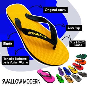 Harga sandal jepit swallow modern 108 d yellow   jumbo size ready   biru | HARGALOKA.COM