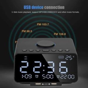 Harga speaker alarm clock fm radio usb speaker phone | HARGALOKA.COM