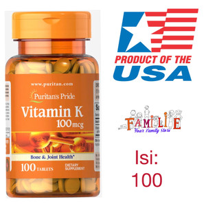 Harga puritan pride vitamin k 100 mcg tablets   usa origin   isi | HARGALOKA.COM