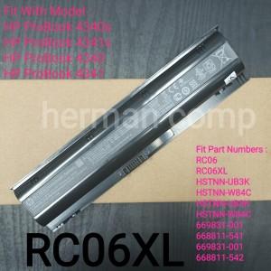 Harga baterai original hp probook 4340 4340s 4341 4341s rc06xl   HARGALOKA.COM