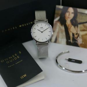 Harga jam tangan wanita dw gray dial white rantai pasir free | HARGALOKA.COM