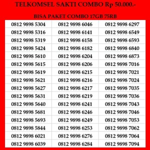 Harga kartu perdana telkomsel sakti combo 4g nomor cantik simpati as | HARGALOKA.COM