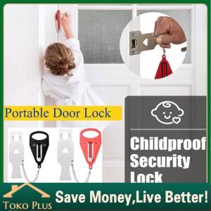 Harga portable door lock travel hotel airbnb dorm kos rumah kunci | HARGALOKA.COM