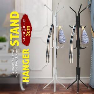 Harga multifunction stand hanger   gantungan topi tas jaket   hitam   | HARGALOKA.COM