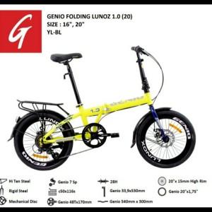 Harga genio lunox 1 0 20 inci sepeda lipat by united     HARGALOKA.COM