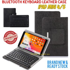 Harga ipad mini 4 a1538 a1550 bluetooth keyboard leather flip case cover     HARGALOKA.COM