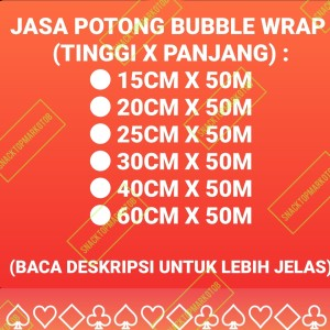 Harga jasa potong bubble wrap bubblewrap custom packing online | HARGALOKA.COM