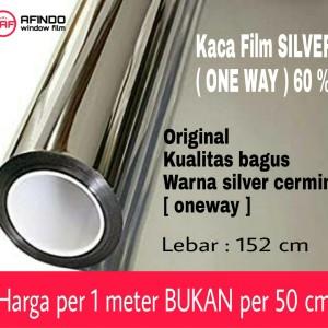 Harga kaca film window film silver cermin one way 60 | HARGALOKA.COM