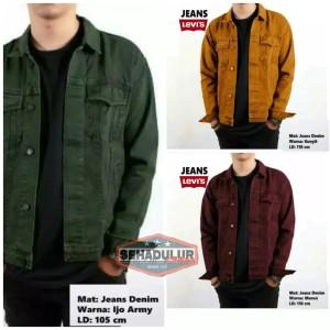 Harga jaket jeans denim pria jaket jeans levis pria jaket murah jaket promo   ijo army   HARGALOKA.COM