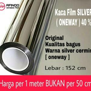 Harga kaca film window film silver cermin one way 40 | HARGALOKA.COM