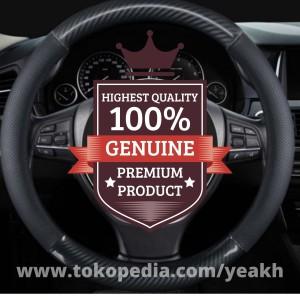 Harga cover sarung stir mobil steer kulit sapi asli karbon   setir karbon     HARGALOKA.COM