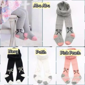 Harga legging pita bayi perempuan lejing polos tutup kaki legging newborn   pink   HARGALOKA.COM