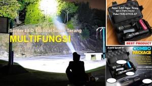 Harga senter led tactical cree xm l2 8000 lumens super terang   HARGALOKA.COM