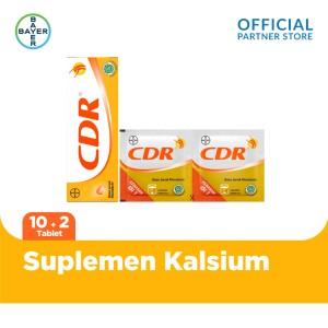 Harga cdr suplemen kalsium rasa jeruk 10 tablet amp 2 | HARGALOKA.COM