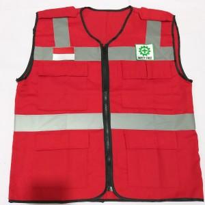 Katalog Baju Rompi Proyek Pengaman Polyster Merah Katalog.or.id