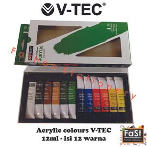 Info V Tec Cat Akrilik Acrylic 12 X 6 Ml Katalog.or.id