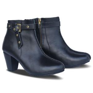 Harga sepatu boots wanita kulit l02 black   atmal   36 40 ukuran besar 41 45   | HARGALOKA.COM