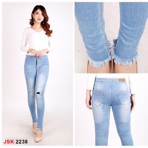 Harga highwaist lapis kain tempel jsk 2238 jeans ripped skinny   HARGALOKA.COM