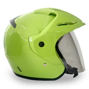 Harga eroe m1 helm sni open face warna gaul solid clear coat   lime | HARGALOKA.COM