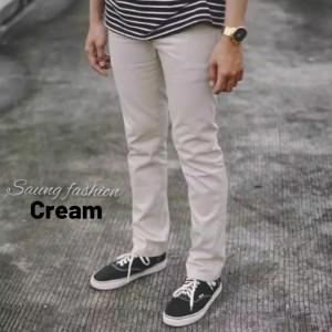 Harga celana chino panjang celana cino pria celana chinos murah   cream | HARGALOKA.COM